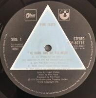 PINK FLOYD DARK SIDE OF THE MOON LP SOLID BLUE PRISM LABEL JAPAN PRESS + BOOKLET