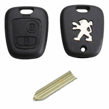 Peugeot 106 206 306 406 2 Button Replacement Remote Key Fob Case and SX9 Blade