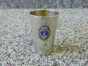 """Swedish Silver Small Beaker Cup by C G Hallberg , Height 2 and 3/8"""" inches"""