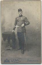 CDV-Kabinettfoto-Zidenice -  Soldat  mit Säbel und Orden  (K485)