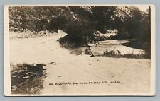 "Fishing Man—Bow River RPPC Calgary Alberta ""Boulevard"" Antique Photo 1910s"