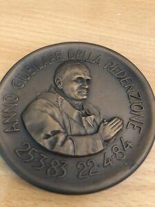 Papst Medaille Vatikan 1983-84 Anno Giubilare Della Redenzione