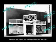 OLD HISTORIC PHOTO OF CHARLESTON WEST VIRGINIA, THE VALLEY FORD STORE c1955