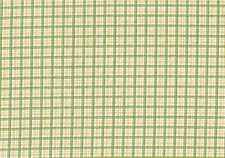 Braemore Textile Fabric Green Yellow Aqua Brown Plaid Cotton Drapery Upholstery