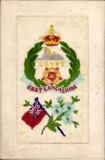 World War 1 Regimental Silk. East Lancashire Regiment. Egypt.