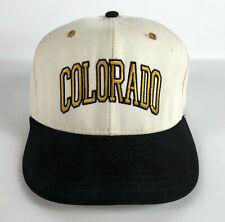 Colorado Buffaloes Vintage Baseball Hat White Black Gold Pro-Line Size 7