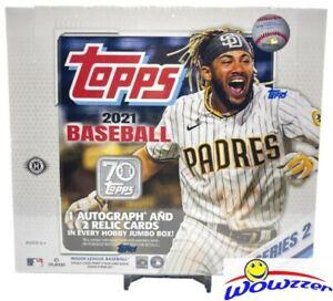 2021 Topps Series 2 Baseball Sealed 6 Box JUMBO HOBBY CASE-18 Auto/GU+12 SILVER