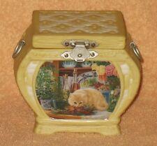"Ardleigh Elliott  Cozy Country Kitties Music Box ""HANNAS SECRET GARDEN """