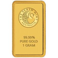 Perth Mint Gold 1g Minted Bullion Bar (Certicard)