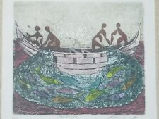 "Framed 1978 Aquatint ""The Big Catch"" S/N 34/50"