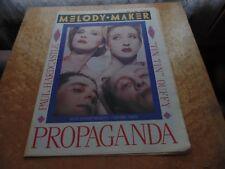 "MELODY MAKER 18/5/85. PROPAGANDA,PAUL HARDCASTLE, STEPHEN ""TIN TIN"" DUFFY."