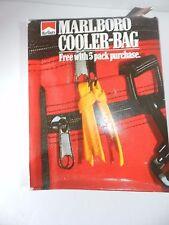 Vintage Marlboro Cigarettes Soft Sided Cooler Bag Red Logo in Original Box