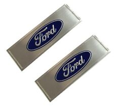 68-77 Bronco 64-66 Mustang Aluminum Door Sill Step Plates Decals Emblems Pair