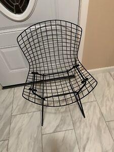 Original 1950's Harry Bertoia Black wire chair Knoll