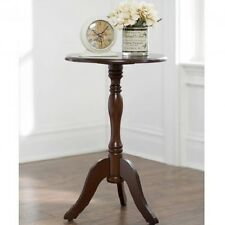 Decor Therapy Fr1568 Aged Cherry Simplify Pedestal Accent Table Fr15