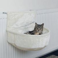 Kuschelsack für Heizkörper weiß Plüsch Katzenbett Art. 43140 für Katzen Heizung