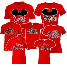🔥 Mom Dad Big Sister brother Mickey Family Matching T shirts disney Vacation