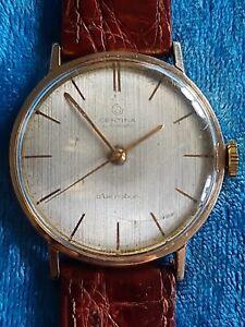 Mens Vintage Gold Plated CERTINA BLUE RIBBON 27J Mechanical Automatic Wristwatch