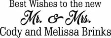 Custom Printed Wedding Pens White & Gold (50) Best Wishes to the New Mr. & Mrs!!