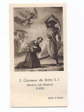 Execution of St.JOHN de BRITO Decapitation Martyr 1693 INDIA. Old vtg HOLY CARD