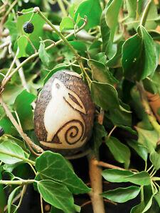 Moon-Gazing Hare Egg Ornament - Pagan, Wicca, Goddess, Transformation, Fertility