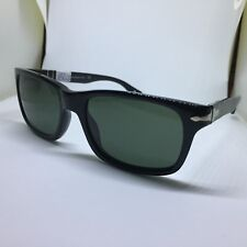 PERSOL 3048-S occhiali da sole neri hand made in Italy uomo man black sunglasses