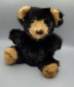 Vintage Mink Fur Teddy Bear Rare Bear Genuine Fur Stuffed Plush Toy NWT 1982