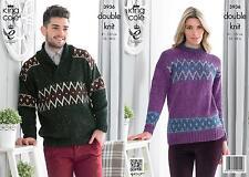 King Cole 3936 Knitting Pattern Mens Womens Sweaters in King Cole Moods Duet DK