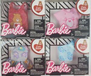 Barbie Care Bears Fashion Tops lot of 4