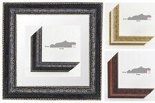 "Holz Bilderrahmen Barock ""SINGOS"" 21x29,7 cm (DIN A4) Antireflex Acrylglas NEU"
