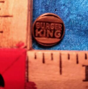 """Vintage Brass Shirt """"Burger King"""" Button 1/2 Inch Around WWWW on the back"""
