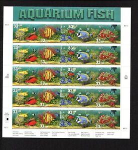 Aquarium Fish Plate of 20 Stamps Issued 1999