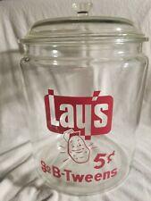 Vintage Lay's go B-Tweens 5c Country Store Jar RARE Large Country Store Jar