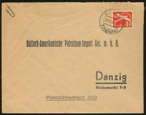Danzig Firmenvordruckbrief ab DANZIG FLUGHAFEN 20.4.38 n. DANZIG (69654)