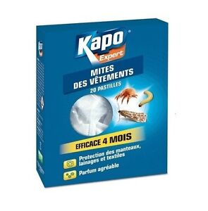 PASTILLE ANTI MITES LARVES KAPO efficace 4 mois 375 G PROTEGE VETEMENT LAINAGE