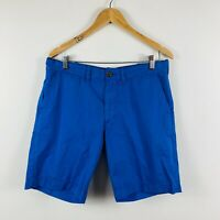 French Connection Mens Chino Shorts Size 36 Royal Blue Smart Casual Shorts
