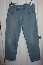Levis 550 Blue Jeans 33x32 100% Cotton Relaxed Fit Lighter Wash