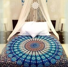 Indian Mandala Tapestry Wall Hanging Blue Tapestries Throw Dorm Decor Hippy Boho