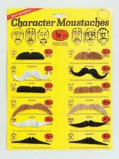 Moustaches. 5 Colours. 6 assorted,   Stick on Fake Facial Hair, Fancy Dress #IE