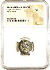 Roman Emperor Trajan Arabia Provincial Issue Coin Ngc Certified Vf,With Story