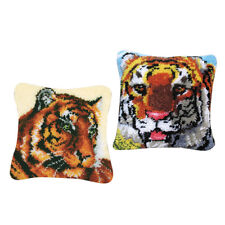 2 Set Tiger Square Knüpfteppich Kit DIY Stickerei Kreuzstich Hand