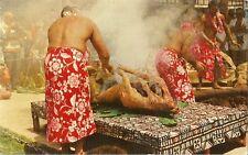 Postcard Hawaii Luau Pig Used 1973