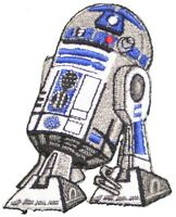 "Star Wars R2D2 Embroidered Patch Iron On 3"" Applique NEW Movies Sci-Fi Robot"