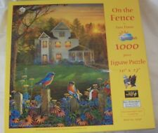 SunsOut Jigsaw ON THE FENCE by Sam Timm 1000 Pcs Used