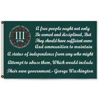 Three Percenter 1776 George Washington flag Banner 3x5Feet Man Cave