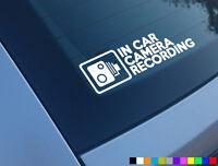 IN CAR CAMERA RECORDING CAR STICKER DECAL WINDOW FUNNY BUMPER CCTV HD CAM DASH