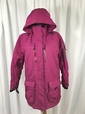Lands' End Quilt Primaloft Down Feather Insulated Hooded Winter Snow Jacket - S