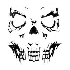 Adultos Gothic Esqueleto Cráneo cara Tatuajes transferencias SFX Pegatinas Hueso Halloween