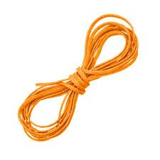 Naranja Cable Joyas Hilo Encerado Poliester Puntilla macramé 1 metro de largo (D58/1)