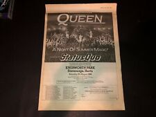 Queen Live in Concert 1986 Freddie Mercury Original Print Advertisement Poster